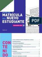 Guía de Matrícula Del Nuevo Estudiante 2021-1 (Febrero)