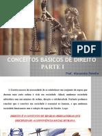 CONCEITOS BÁSICOS DE DIREITO - P1