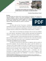 A CONSTRUÇÃO DAS ESTRUTURAS SINDICAIS NO BRASIL