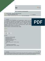 Avaliação Linguagem de Programção