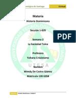 Historia Dominicana Semana 1