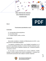 Clase 1 Epja -Primaria - Alfabetización - Pdl - Rev
