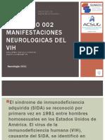 S4- PPT MOT. MANIFESTACIONES NEUROLÓGICAS DEL VIH.