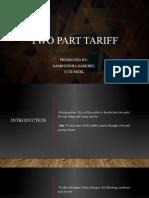 Two Part Tariff