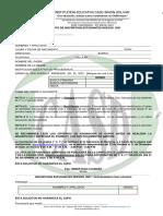 Formato de Inscripcion Estudiantes Nuevos 2021 Casd