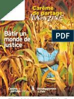Magazine - Bâtir un monde de justice