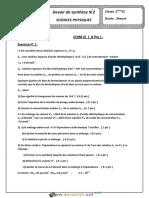 Devoir de Synthèse N°2 - Sciences physiques - 2ème Sciences exp (2017-2018) Mr Khedimi Sami (3)