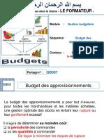 Gestion Prévisionnelle Budget Des Approvisionnements