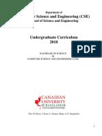 CSE Courses UGC Curriculum 2018
