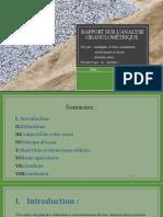 Rapport Sur l'Analyse Granulométrique