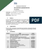Sílabo Curso ASISTENTE ADM X - VIERNES  05 MARZO