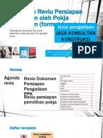 Template Reviu Persiapan Pemilihan oleh Pokja Pemilihan JASA KONS KONSTRUKSI