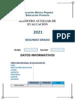 Registro auxiliar segundo grado