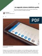 Apps para añadir un segundo número telefónico gratis - CNET en Español