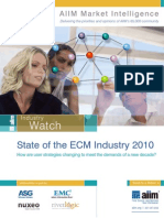 AIIM_State of ECM Market 2010