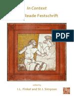 Finkel, Simpson 2020 In Context, the Reade Festschrift [Fs Reade]