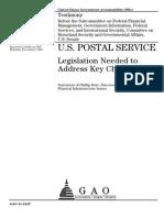 GAO REPORT_ USPS