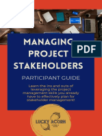 Managing Project Stakeholders Participant Guide (1)