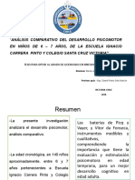 arreglado Análisis comparativo del desarrollo Psicomotor