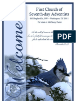 Winter 2010 Bulletin for the First Church of Seventh-day Adventists