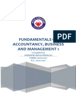 Fundamentals of Accountancy Business and Management 1 Module