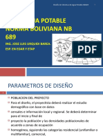 presentacion agua potable nb689