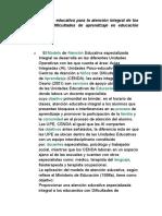 LINEA DE TRABAJO ATENCIÒN INTEGRAL