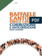 Raffaele Cantone, Enrico Carloni - Corruzione e anticorruzione