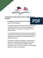 EL PROCESO DE UNIFICACIÓN POLÍTICA E INDEPENDENCIA NACIONAL