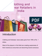 clothing and footwear retailers in India