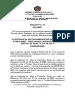 Resoluciones 007 de 2021 Comite Alternancia
