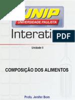 COMPOSIÇÃO DE ALIMENTOS 2   Nutrição.