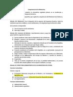 8. Competencia de los Ministerios