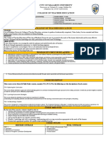 New Obe Template Syllabus Field Study 2