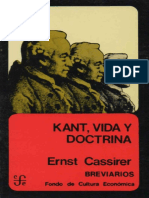 (1918) Cassirer, E. - Kant, vida y doctrina