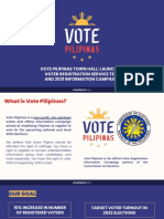 [Vote Pilipinas] - Launch of Voter Registration Service test and 2021 Information Campaign