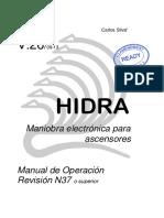 MANUAL OPERACION HIDRA