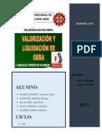 Valorizacion de Obras Civiles