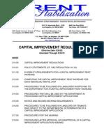 CAPITAL IMPROVEMENT REGULATIONS