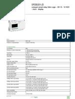 Smart Relay - Zelio Logic SR2_SR3_SR2B201JD