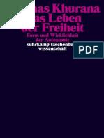 【黑格尔研究】Khurana_Das-Leben-der-Freiheit_9783518748541