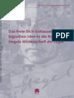 Das freie Sich-Entlassen der logischen Idee in die Natur in Hegels Wissenschaft der Logik