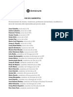Llistat  d'acadèmics a favor de l'amnistia