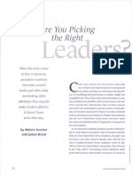 Picking the Right Leaders
