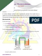 Résumé de Cours Sur Les Piles Électrochimiques Pile Daniell