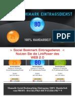 Ihr Social Bookmark Eintragsdienst