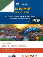PPT Clase 16 Quechua