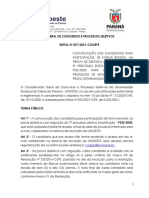 Edital n° 027-2021 – COGEPS – Convocação dos candidatos para a participação REMOTO da Prova Didática com Arguição
