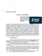 Edital N° 112-2020 - Normatização e Abertura de Inscrições
