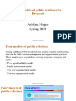 Lecture-3 Four models of public relations for Research